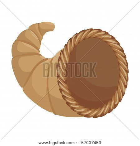 thanksgiving basket isolated icon vector illustration design
