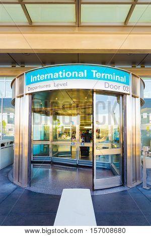 Revolving Door International Departure Level V