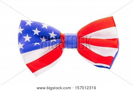 Bow Tie With Usa Flag. United States Symbol
