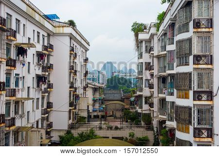 Residential Neighborhood In Guilin, China