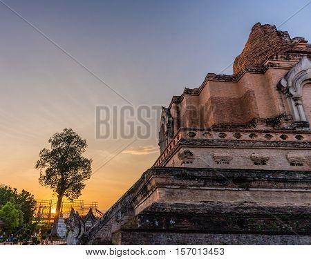 Buddist Pagoda In Chiang Mai, Thailand