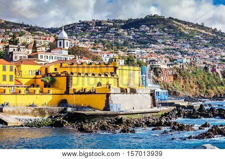 Old Castle In Funchal, Capital City Of Madeira