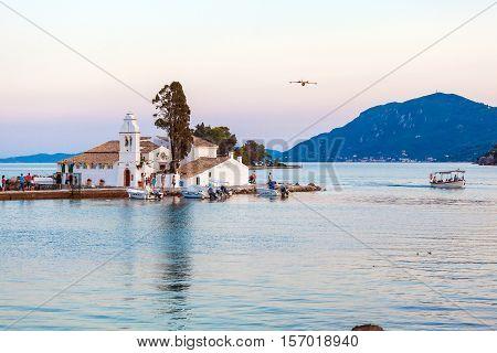 Vlacherna Orthodox Monastery In Corfu