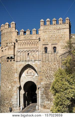 Toledo (Castilla-La Mancha Spain): historic door known as Puerta de Valmardon in Arabian style