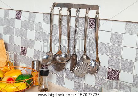 Kitchen Tools. Set Of Tools For Cooking.
