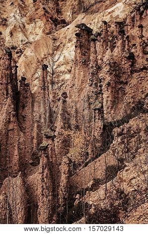 Unusual rock formation, stones, reefs, cliffs, red rocks