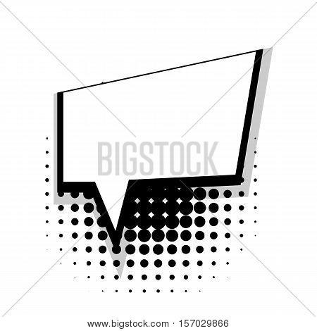 Blank template comic speech square simple bubble halftone dot background style pop art. Comic dialog empty space text style pop art. Creative composition idea conversation comic sketch explosion
