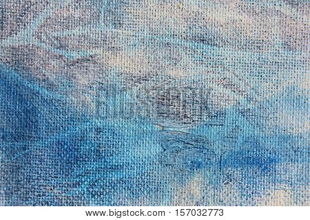 Blue Watercolour Textures on Canvas 2
