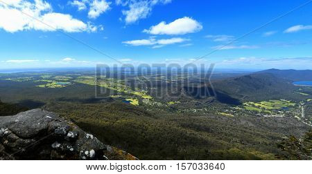 Beautiful view at Baroka look out near Halls Gap in Grampians National Park