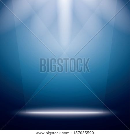 Abstract Background with Bright Stage Light Rays. Vector Illustration.