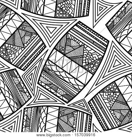 Seamless pattern with ethnic drums/ Tribal style