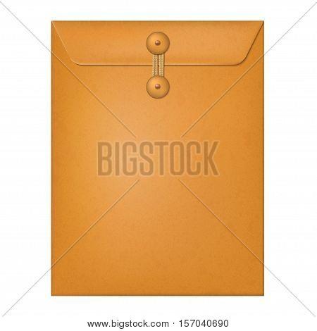 Manila envelope isolated on a white background