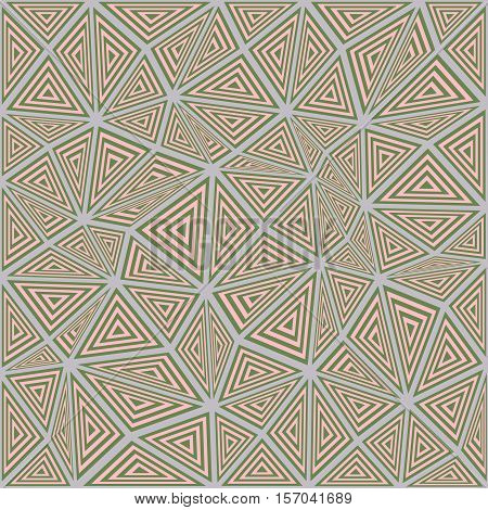 Abstract striped triangle puzzle pattern background design