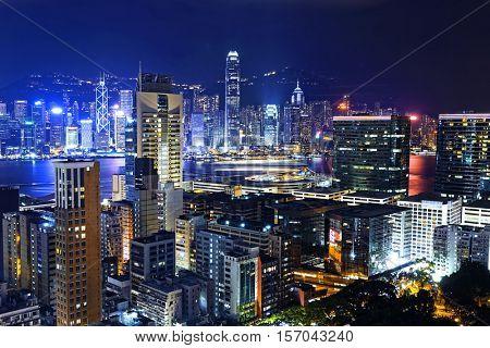 Hong Kong City skylines at Night