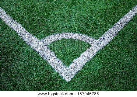 corner kick Artificial turf soccer field .