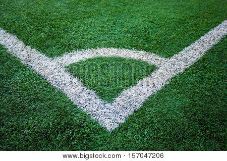 corner kick, Artificial turf soccer field .