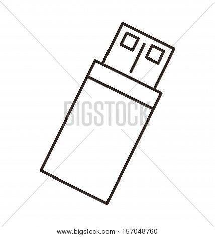 usb memory storage isolated icon vector illustration design
