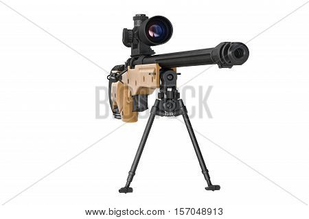 Rifle Sniper Optical Weapon, Front View