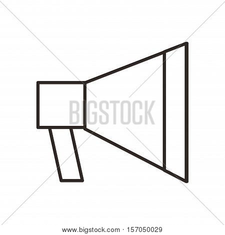 megaphone flat line icon vector illustration design