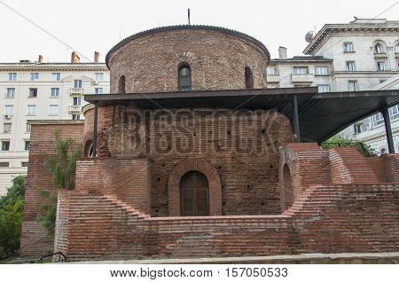Rotunda Sveti Georgi In Sofia, Bulgaria, Side View