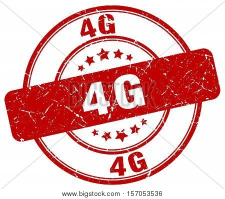 4g. stamp. square. grunge. vintage. isolated. sign