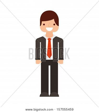 businessman avatar line icon vector illustration design