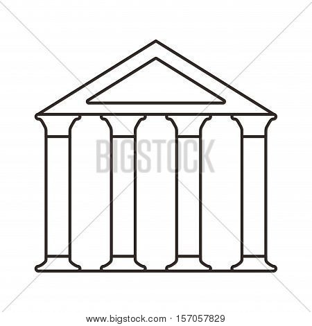 bank building isolated icon vector illustration design