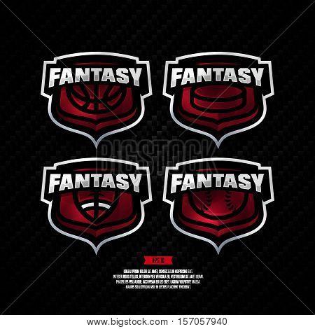 Fantasy Sports Logo Design.