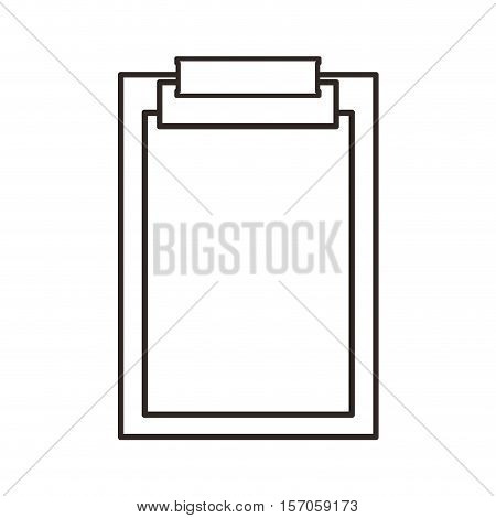 clipboard documents isolated icon vector illustration design