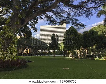 Public Park La Estancia In Caracas, Venezuela