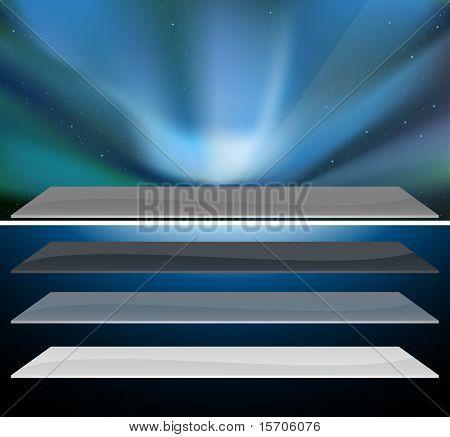 Nothern blue aurora design.