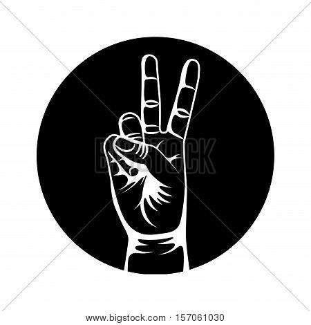 hand human symbol isolated icon vector illustration design