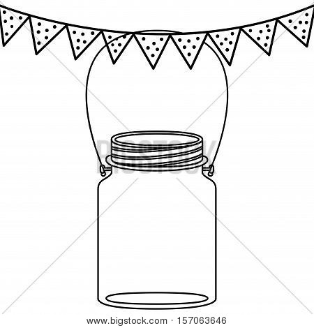 Mason jar icon. Retro vintage and decoration  theme. Isolated design. Vector illustration