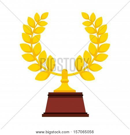 wreath crown award icon vector illustration design