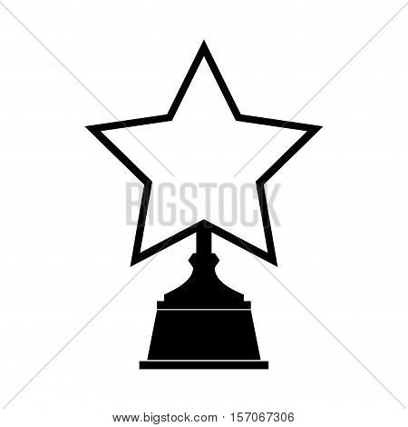 trophy winner award isolated icon vector illustration design