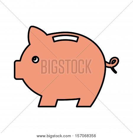 piggy savings isolated icon vector illustration design