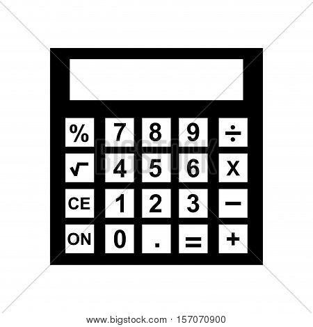 calculator device isolated icon vector illustration design