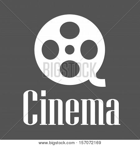 Film Roll Icon Sign Symbol - Cinema Film Reel Tape Sign Movie Vector Illustration Stock