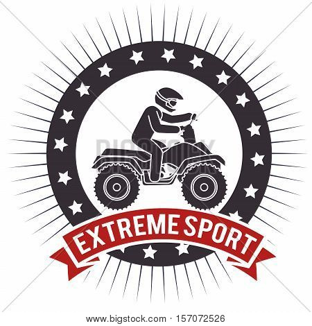 atv extreme sport label design vector illustration eps 10