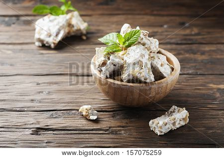 Traditional Italian Nougat With Nuts