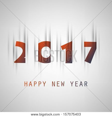 Best Wishes - Simple Colorful New Year Card, Cover or Background Design Template With Holiday Icons - 2017