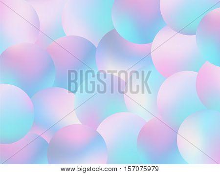 Holographic Bubbles Background Pastel Fashion Wallpaper 2