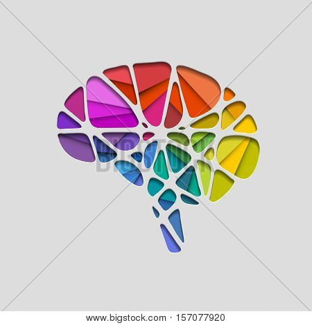 Creative concept of the human brain, eps10 vector