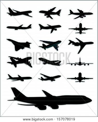 Realistic image of flying airplane isolated on white. Illustration high detailed airplane. Airline Concept aircraft Travel Passenger planes and other commercial plane.