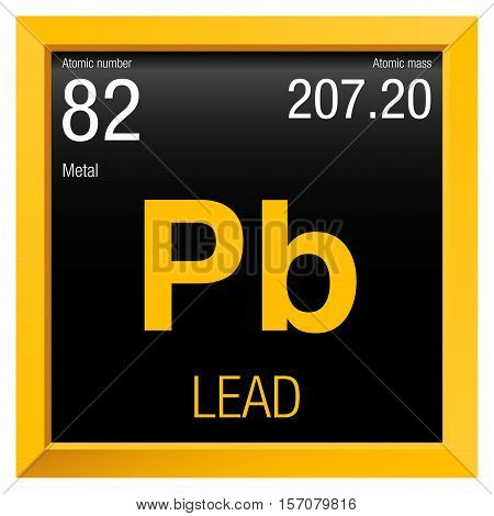 Lead symbol element number 82 vector photo bigstock lead symbol element number 82 of the periodic table of the elements chemistry urtaz Images