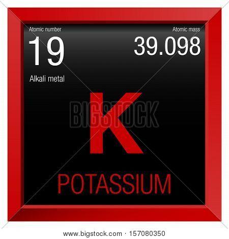 Potassium symbol element number vector photo bigstock potassium symbol element number 19 of the periodic table of the elements chemistry urtaz Images