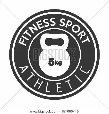 fitness sport athletic kettlebell weight vector illustration eps 10