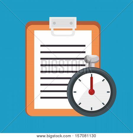 clipboard chronometer elements fitness sport vector illustration eps 10