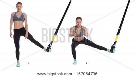Trx Abducted Lunge