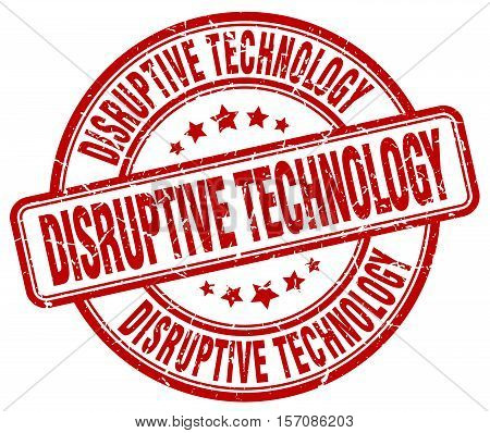 disruptive technology. stamp. square. grunge. vintage. isolated. sign